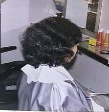 縮毛矯正施術前