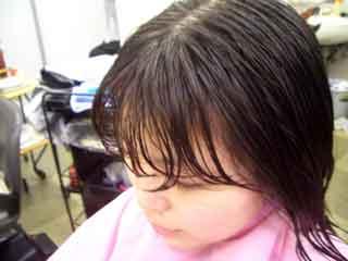 ヘアカット前の前髪